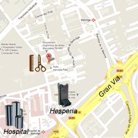 mapa google de la peluqueria en Hospitalet